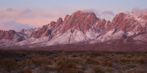 Organ Mountains, NM, with snow