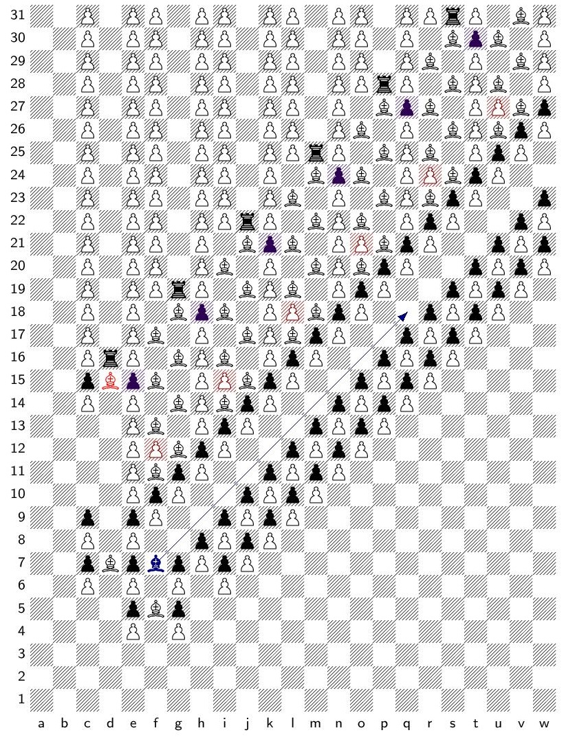 A position in infinite chess with game value $\omega^4