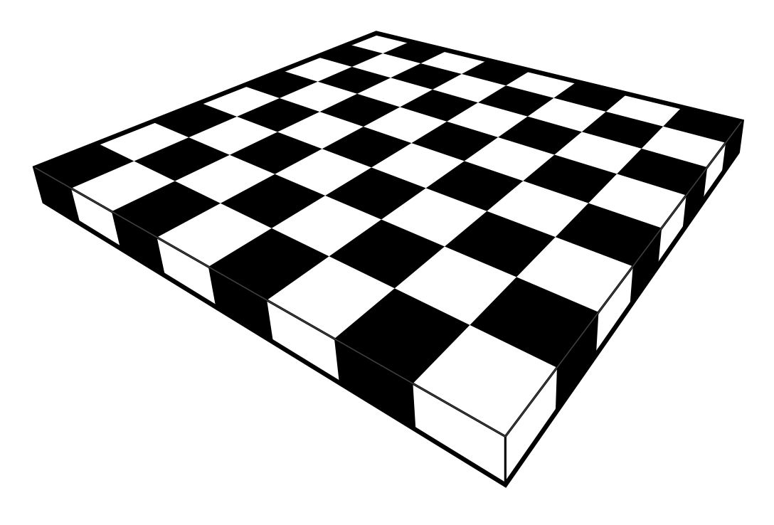 Draw A Chessboard In Perspective View Using Straightedge Only Joel David Hamkins